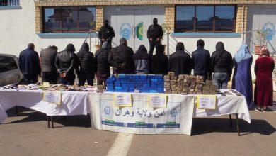 """صورة وهران: الاطاحة بشبطة تهريب المخدرات وحجز أكثر من 46 كلغ """"زطلة"""""""