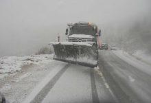 صورة غلق الطريق بين بجاية وتيزي وزو بسبب الثلوج