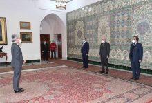صورة الرئيس تبون يستلم أوراق اعتماد السفراء الجدد لدول أنغولا واليابان وتونس لدى الجزائر